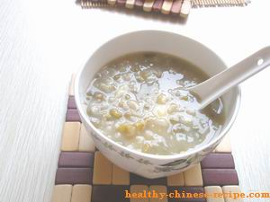 mung bean with lily bulb congee, remove summer heat