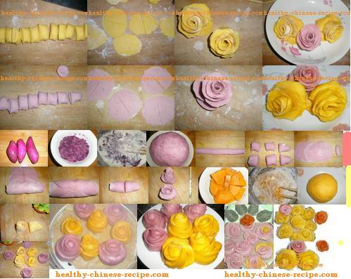 Valentine food recipe. Rose dessert