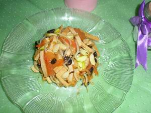 bean sprout with dried tofu stir fry recipe