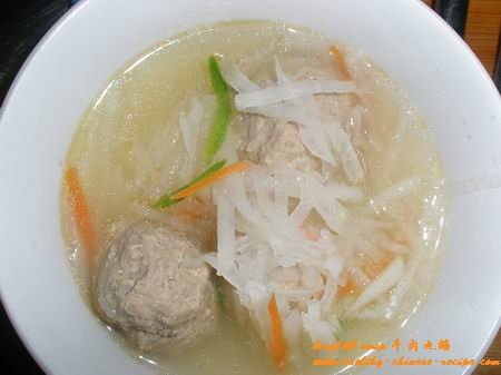Chinese Beef Meatball Soup