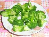 Chicken with Broccoli- broccoli after boiled