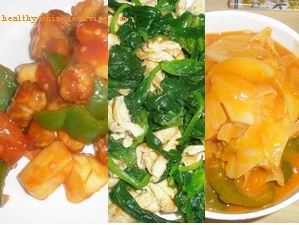 Chinese Healthy Meal Menu
