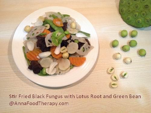 Lotus Root and Black Fungus Stir Fry