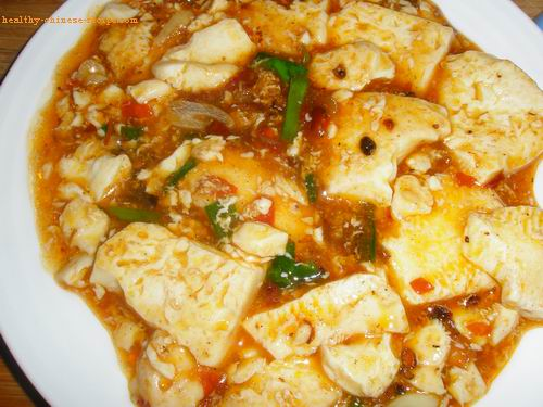 Mapo tofu, vegetarian version