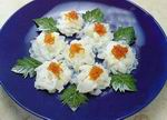 boiled prawn recipe in peony shape