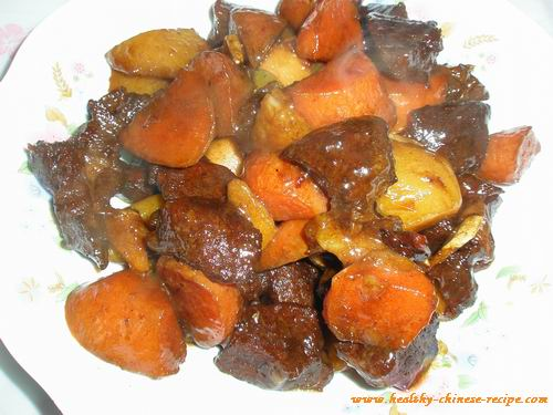 Braised lamb leg with Carrot and Potatoes, Shanghai style