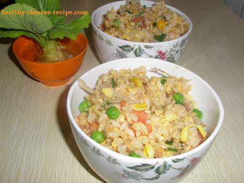 Chinese Fried Rice with Mixed Vegetables