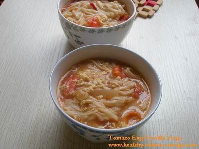 tomato egg noodle soup