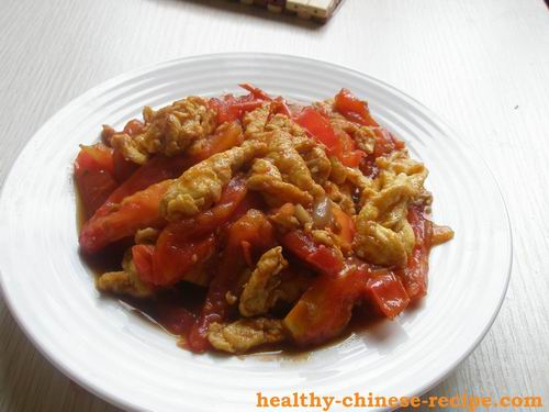 Tomato Fried Egg, heart healthy Chinese Recipe